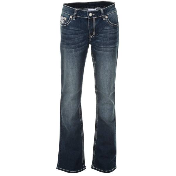 Misses Flap Cross Pocket Bootcut Jeans