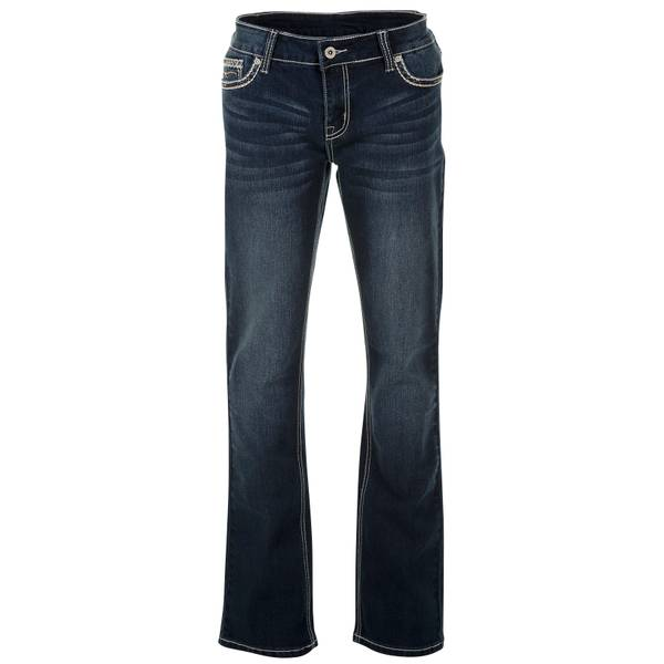 Misses Embroidered Pocket Bootcut Jeans