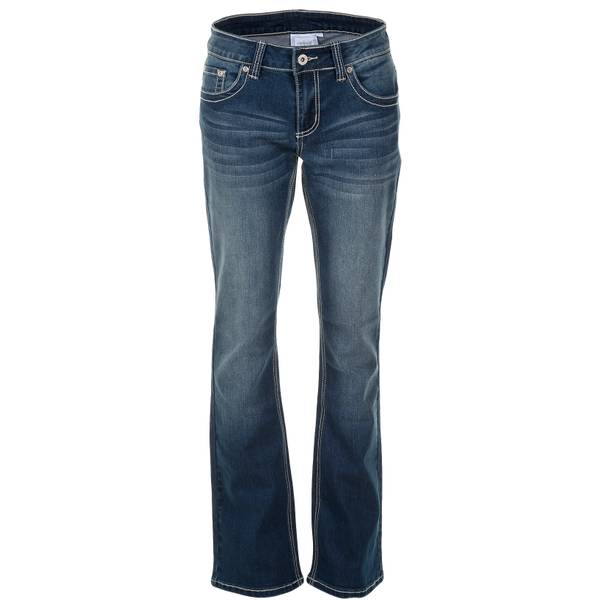 Misses Heavy Stitch Straight Leg Jeans