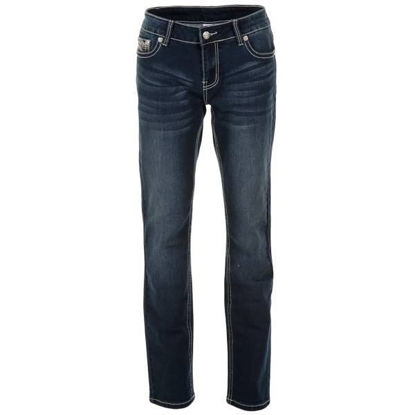 Misses Embroidery Wing Bootcut Jeans