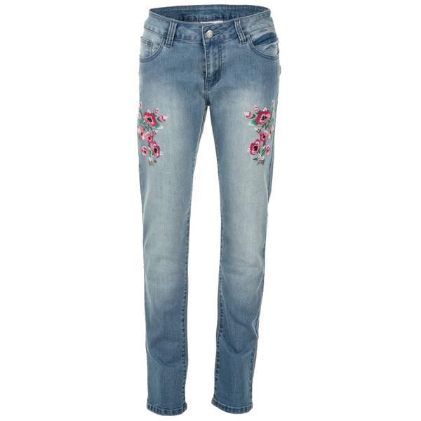 Women's Multicolor Floral Straight Leg Jeans
