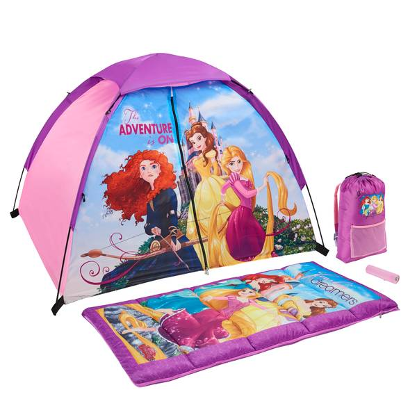 The Adventure is On Disney Princesses 4-Piece Camping Kit