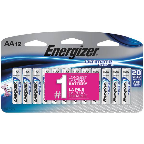 "12-Pack Lithium ""AA"" Batteries"