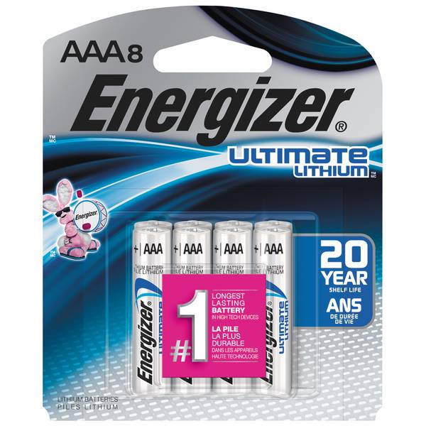 Lithium AAA Batteries 8-Pack