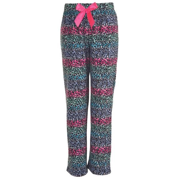 Girls' Cheetah Print Plush Sleep Pants