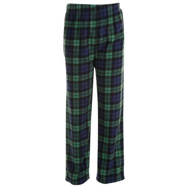 Boys' Plaid Fleece Sleep Pants