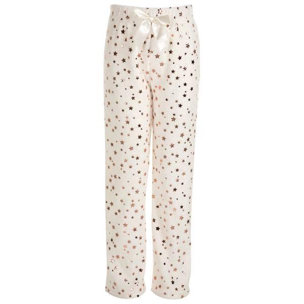 Girls' Star Print Plush Sleep Pants