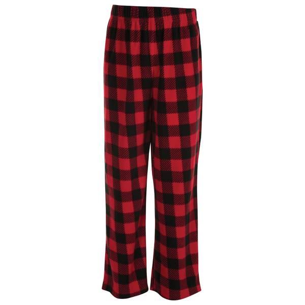 Boys' Buffalo Plaid Fleece Pants
