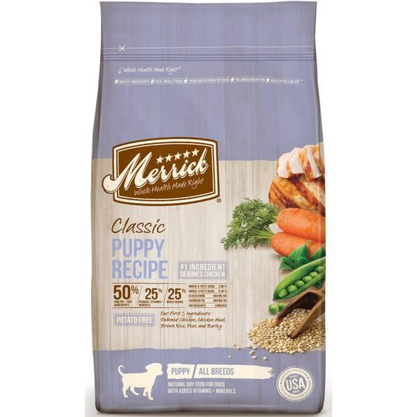 Merrick 4 lb chicken brown rice peas classic puppy dry dog food 4 lb chicken brown rice peas classic puppy dry dog food forumfinder Image collections