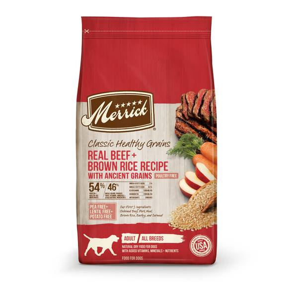 25 lb Classic Real Beef + Green Peas Recipe Dry Dog Food