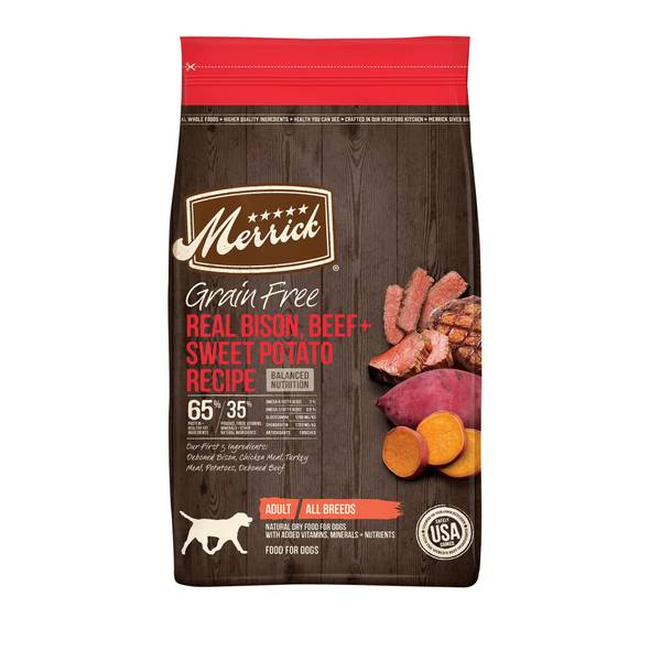 25 lb Grain Free Real Buffalo & Sweet Potato Recipe Dog Food
