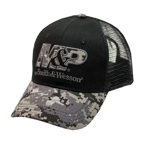 Men's Black One-Size Digi-Camouflage Mesh Cap