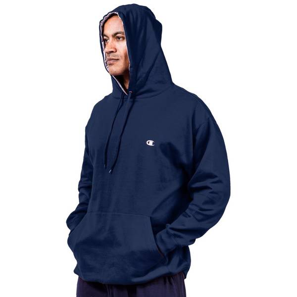 Big Men's Navy Pullover Fleece Hoodie