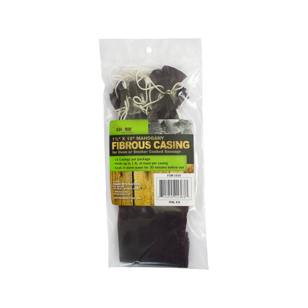 "Fibrous Casing, 1.5"" X 12"" Mahogany, 10 Pack"