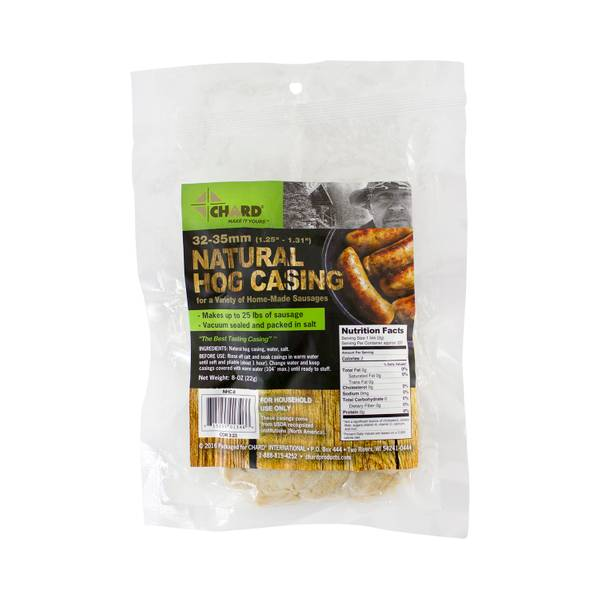 Natural Hog Casing, 32/35, 8 Oz.