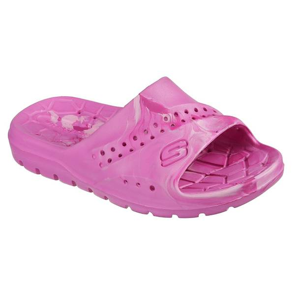 Girl's Hot Pink & Light Pink Hogan - Color Splashed Slide Sandals