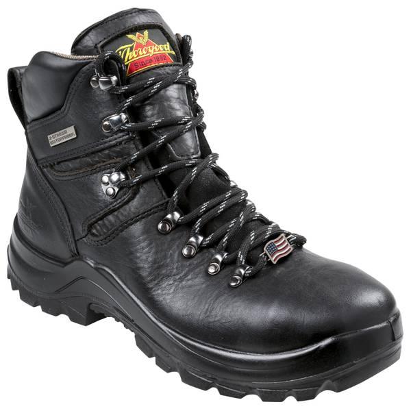"Men's Black 6"" Omni Steel Toe Work Boots - Made In USA"