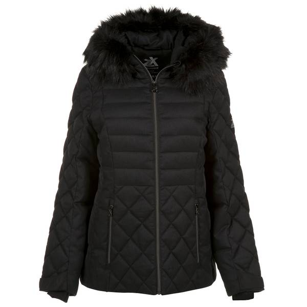 Women's Sabrina Faux-Fur Trim Quilted Jacket