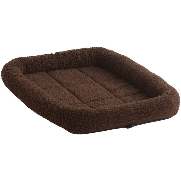 Brown Fleece Crate Pad