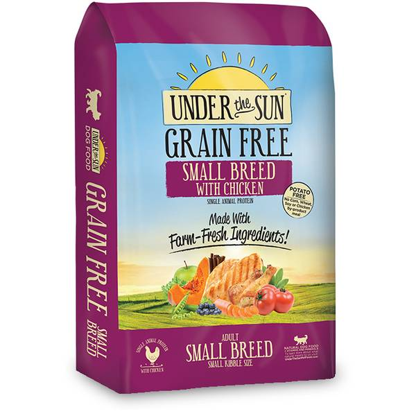 4 lb Under the Sun Grain Free Small Breed Adult Dog Food with Chicken