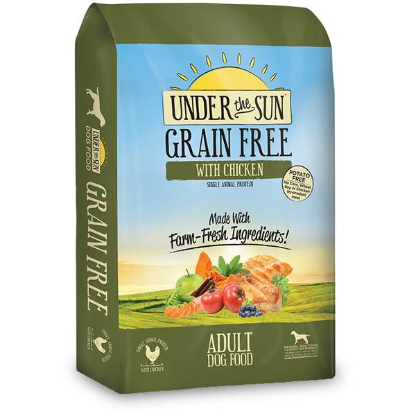 25 lb Under the Sun Grain Free Large Breed Adult Dog Food with Chicken