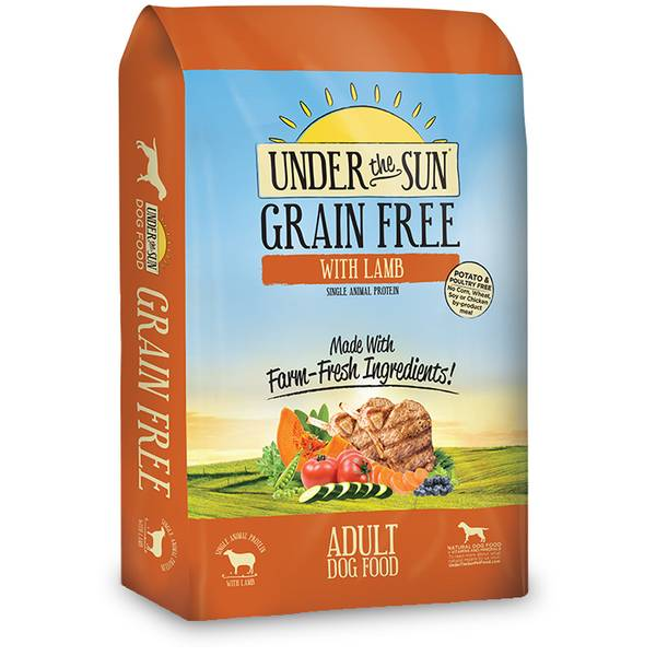 25 lb Under the Sun Grain Free Adult Dog Food with Lamb