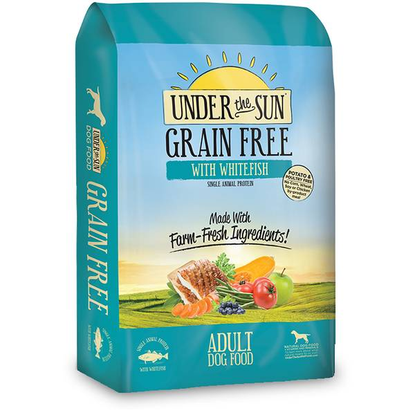 4 lb Under the Sun Grain Free Adult Dog Food with Whitefish