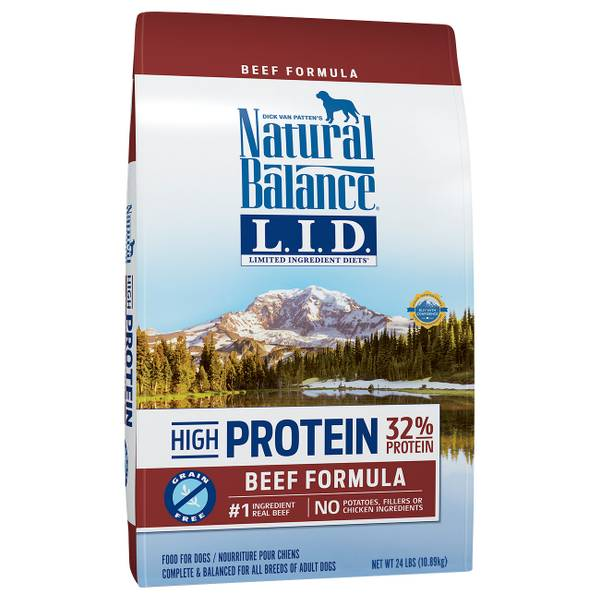 High Protein Beef Formula Dry Dog Food