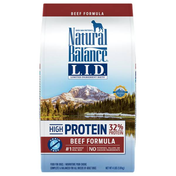 High Protein Beef Formula Dry Dog Food