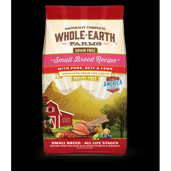 12 lb Grain Free Small Breed Pork, Beef & Lamb Dog Food