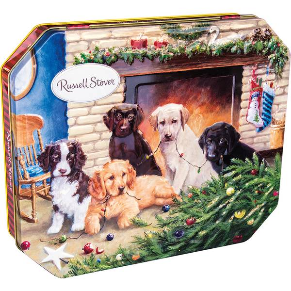 Holiday Dog Tin of Assorted Chocolates