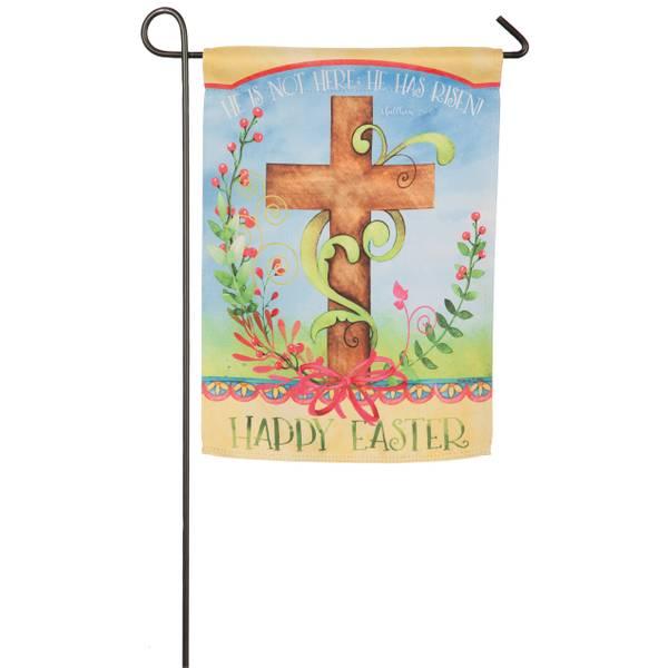 Easter Blessing Garden Suede Flag