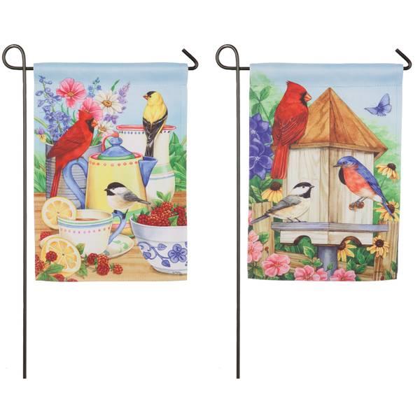 Summer Splendor Garden Suede Flag