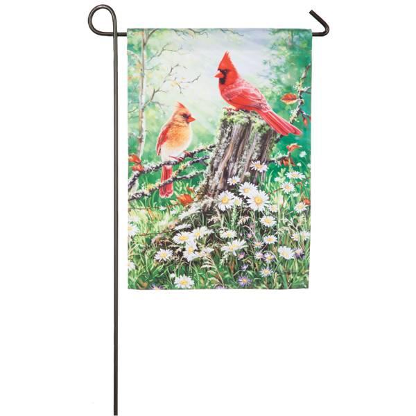 Golden Light Garden Satin Flag