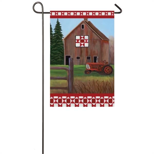 Quilt Barn Garden Suede Flag