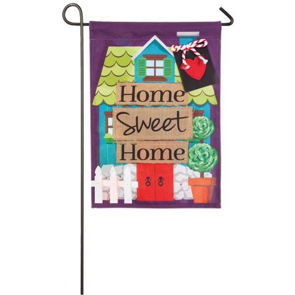 Home Sweet Home Garden Linen Flag