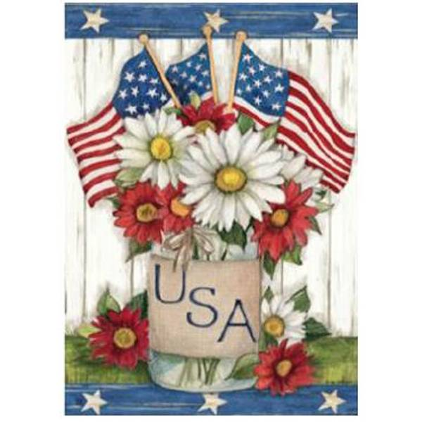 USA Mason Jar Standard Flag