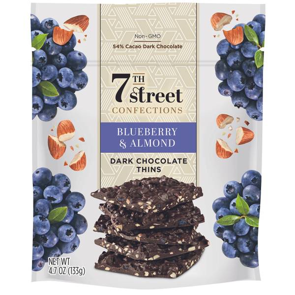 Blueberry & Almonds Dark Chocolate Thins