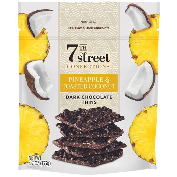 Pineapple & Toasted Coconut Dark Chocolate Thins