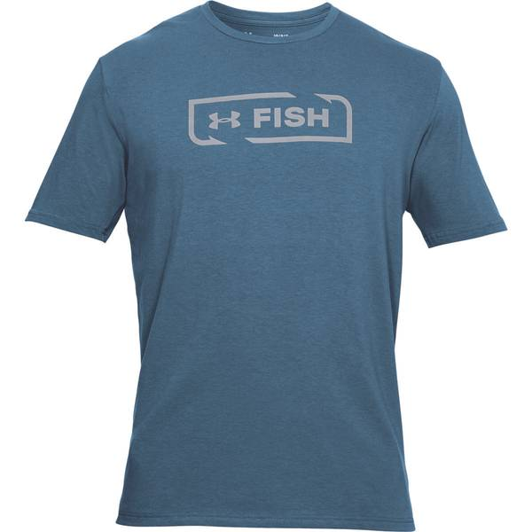 Men's Blue and Acad Fish Icon Graphic Tee