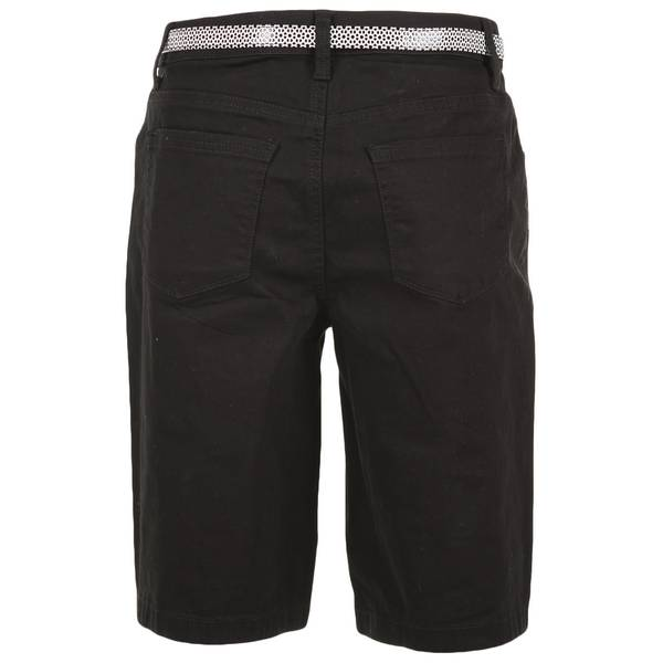 """Misses Belted 11"""" Bermuda Shorts"""
