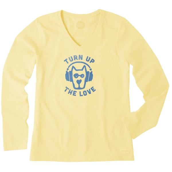 Women's Turn Up the Love Rocket Long Sleeve Crusher Vee