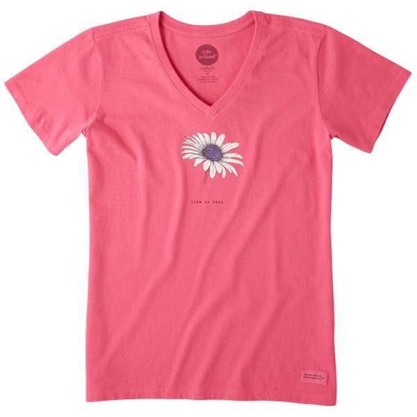 Women's Beautiful Daisy Crusher Vee T-Shirt