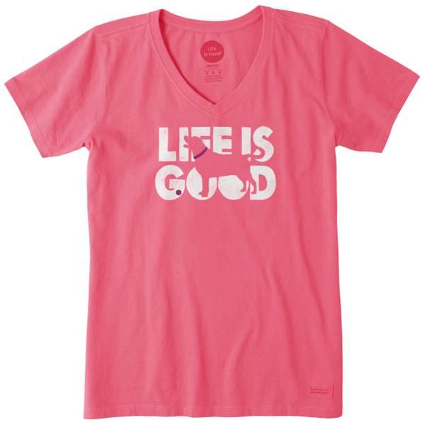 Women's Knockout Dog Crusher Vee T-Shirt