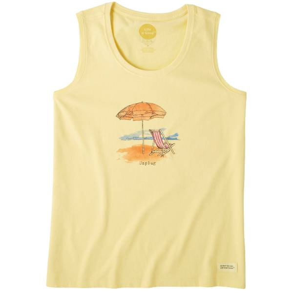 Women's Unplug Beach Umbrella Crusher Scoop Tank