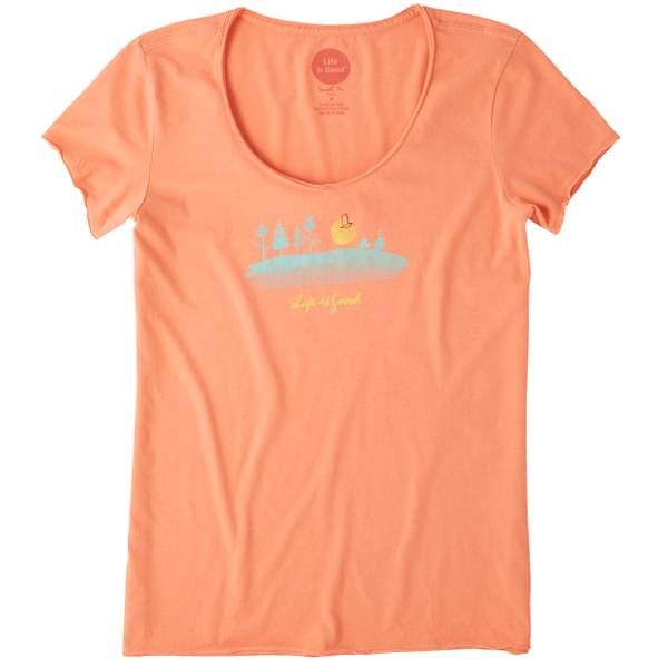 Women's Free Bird Landscape Smooth Scoop Tee