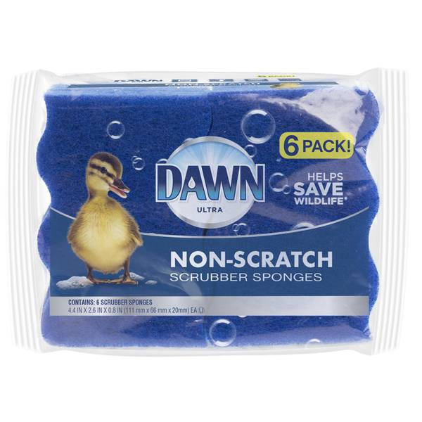 Non-Scratch Scrubber Sponges