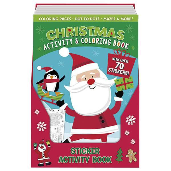 Christmas Santa Sticker Activity Book Assortment