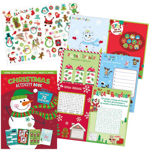 Christmas Snowman Sticker Activity Book Assortment