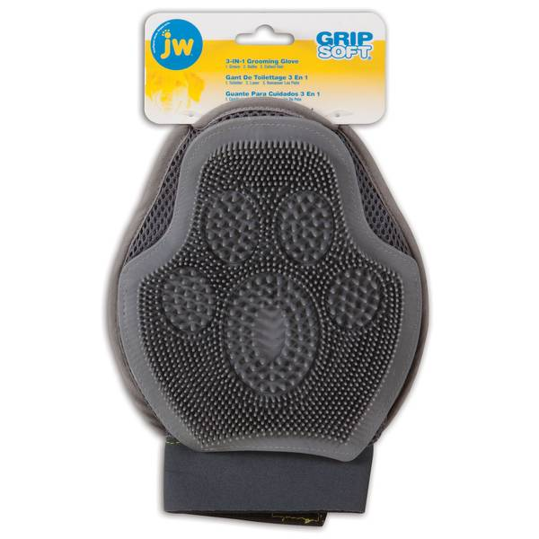 Grip Soft 3 in 1 Grooming Glove